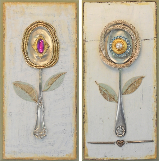 two spoon flowers