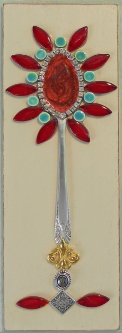 red & green spoon flower
