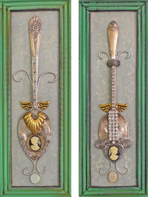 two cameo spoons